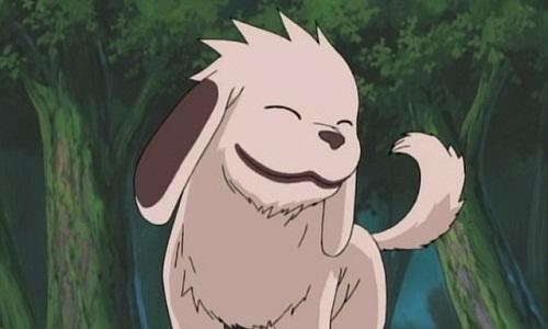 Akamaru is a cute anime dog from Naruto