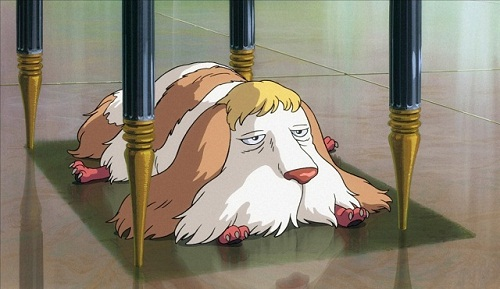 Heen is a cute anime dog from Howl's Moving Castle
