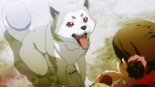 Koromaru is a cute anime dog from Persona 3 The Movie