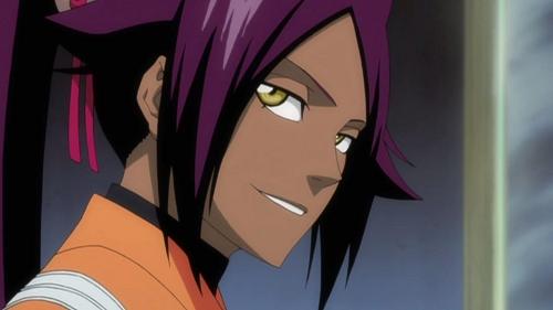 Bleach! Dark-skinned anime characters, Yoruichi Shihoin