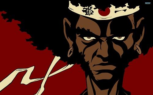 Afro Samurai! Dark-skinned anime characters, Afro Samurai
