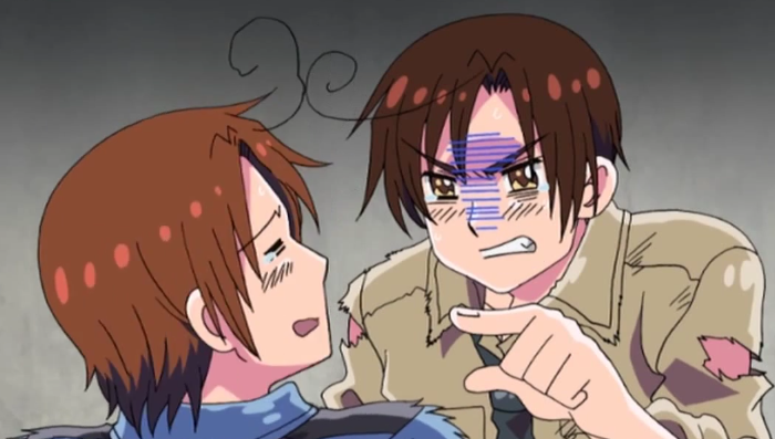 10 Anime Characters with Ahoge - North Italy and South Italy- Hetalia: Axis Powers