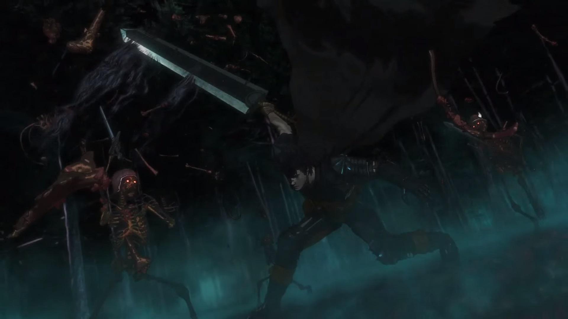Berserk CG Anime skeletons