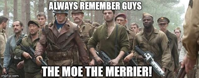 The moe the merrier moe war