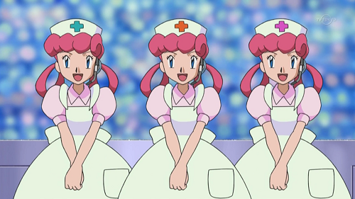 Pokemon! anime nurse characters, Joy