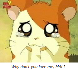 Hamtaro sad crying