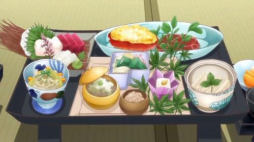 Anime gourmet food