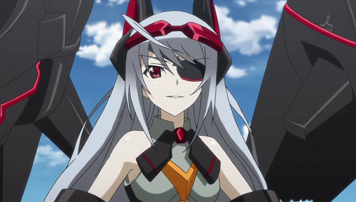Anime Girl with White Hair, Grey Hair, Silver Hair: IS: Infinite Stratos: Laura Bodewig