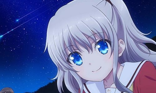 Anime Girl with White Hair, Grey Hair, Silver Hair: Charlotte: Nao Tomori