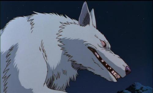Mononoke Hime Princess Mononoke Moro anime wolf anime wolves