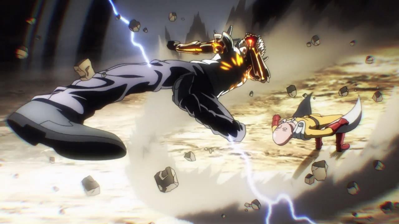 One punch man battle action