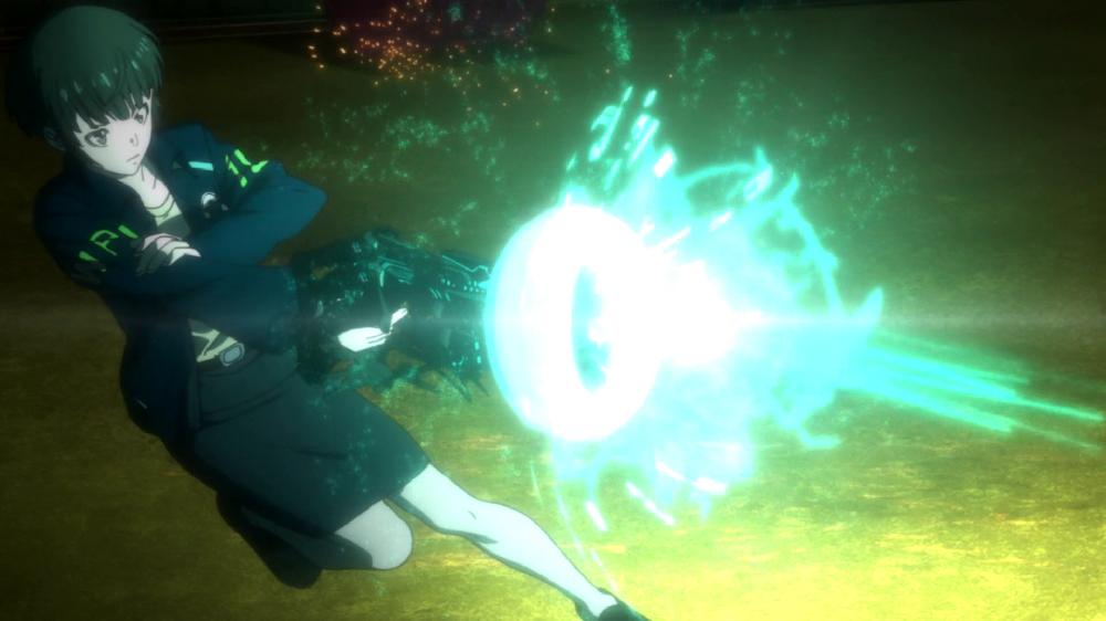Psycho-Pass action battle akane dominator
