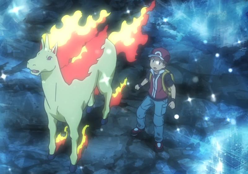 Rapidash Pokemon anime horse