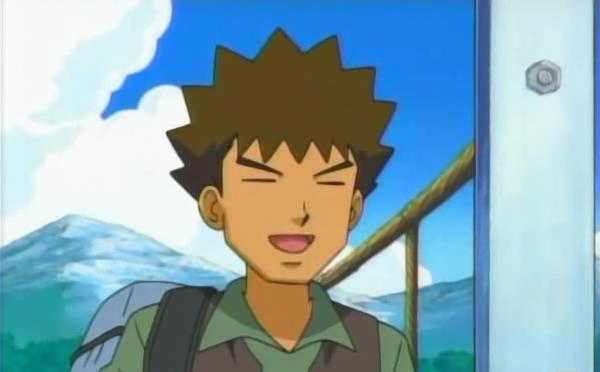 15 Anime Characters with Eyes Always Shut - Brock (Pokemon)