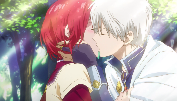 Akagami no Shirayukihime - Zen and Shirayuki kiss