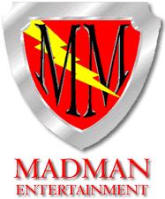 Madman entertainment shield logo