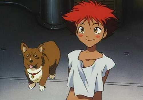 Ed from Cowboy Bebop has a cute anime smile!