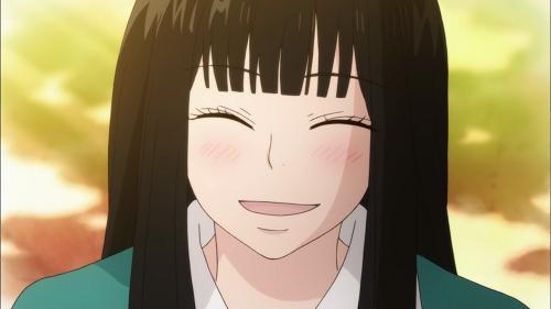 Sawako Kuronuma from Kimi ni Todoke has a pretty anime smile!