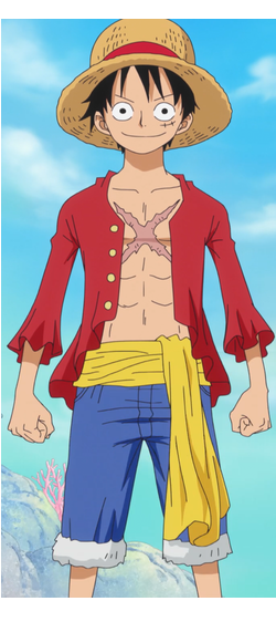 One Piece Luffy good anime
