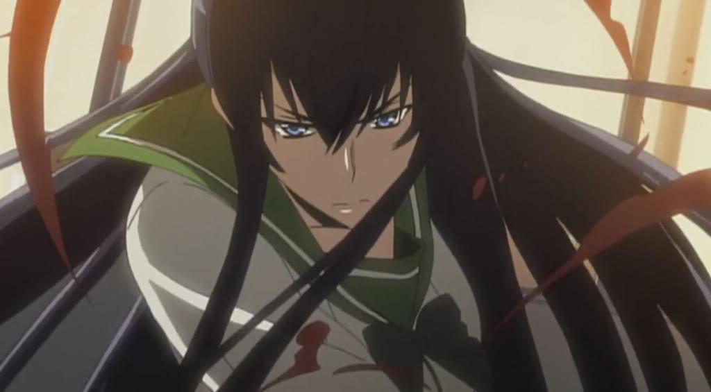 Saeko Busujima, High School of the Dead anime long hair