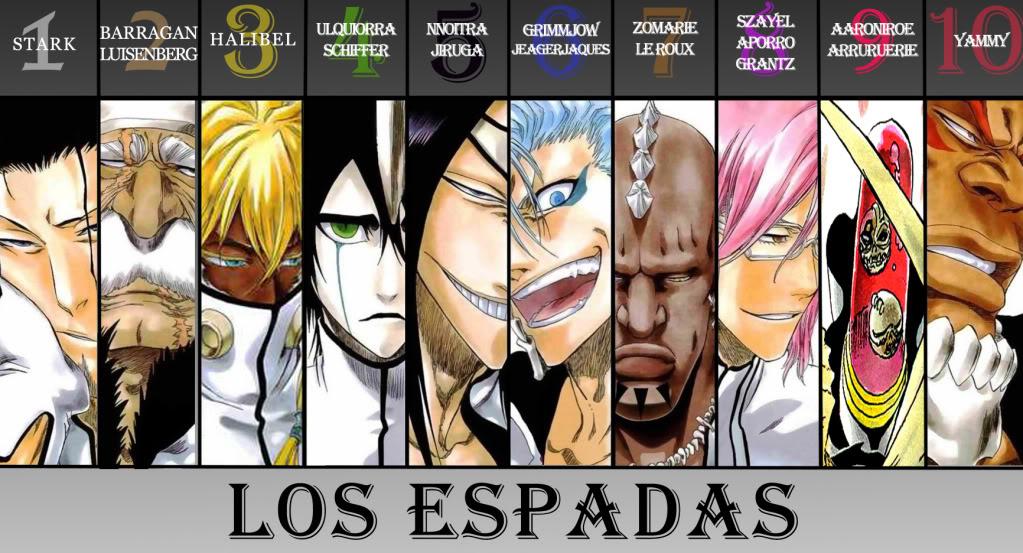 Bleach Espada Characters