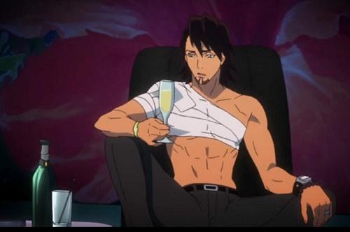 kotetsu kaburagi tiger and bunny hot brown haired anime guy man