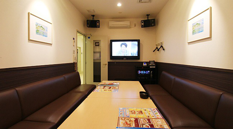 A typical karaoke room.