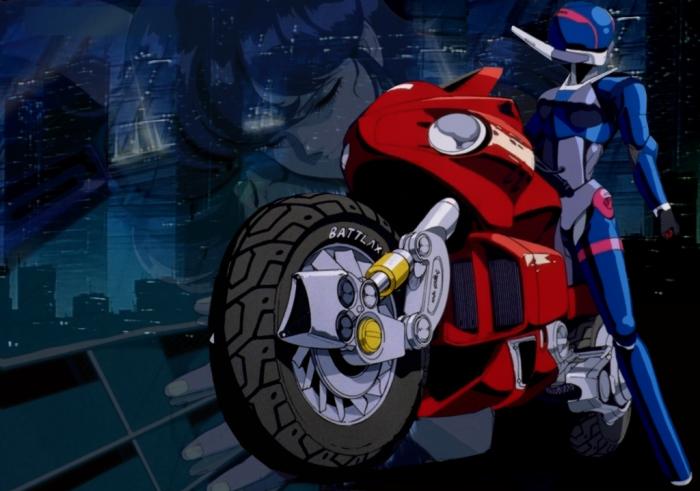 Motorbikes In Anime, Bubblegum Crisis, Priscilla Asagiri