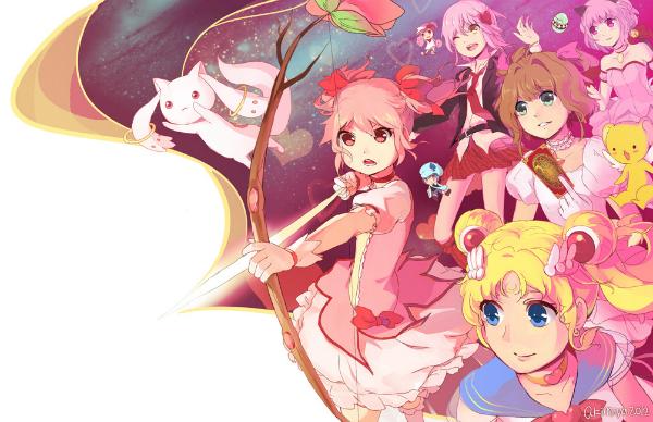Sailor Moon, Puella Magi Madoka Magica, fanart, cardcaptor sakura, tokyo mew mew, shugo chara