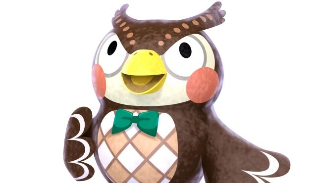 Animal Crossing Blathers anime bird