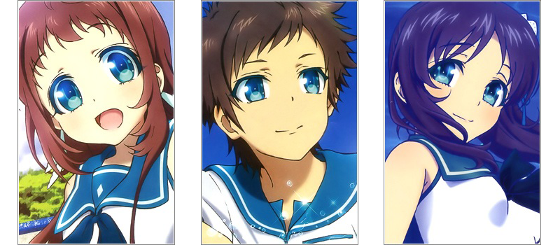 Nagi no Asukara love triangle anime
