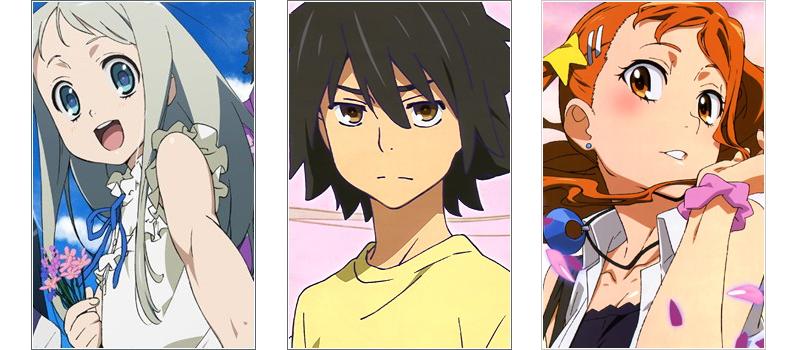 Anohana love triangle anime