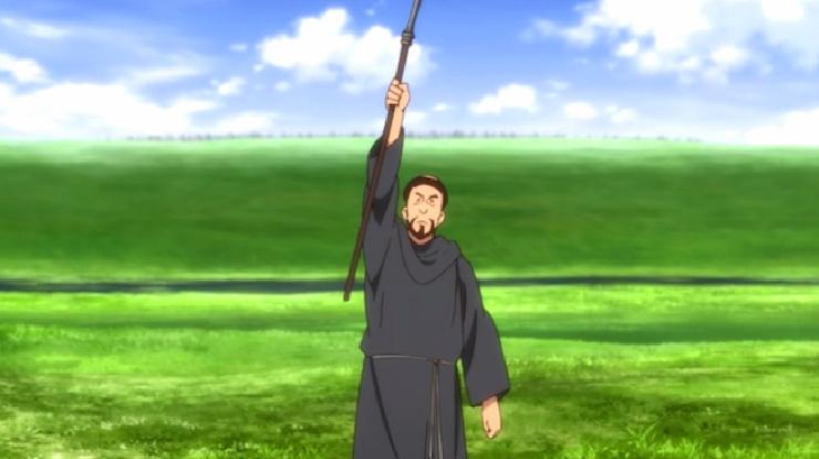 Junketsu no Maria, priest episode 1