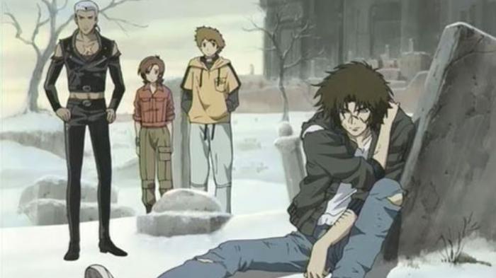 Post-Apocalyptic Anime, Wolf's Rain, Kiba, Tsume, Hige