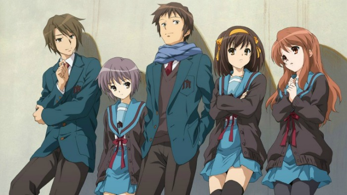 Anime from Light Novel Melancholy of Haruhi Suzumiya
