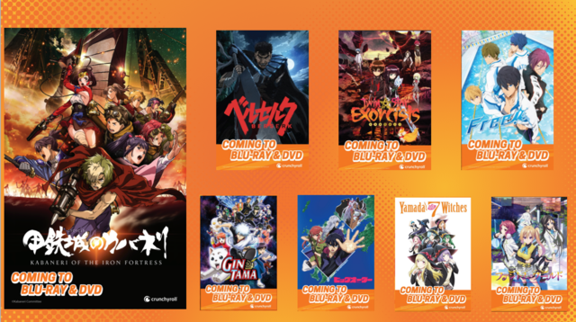 Crunchyroll's upcoming list of blu-ray and dvd releases