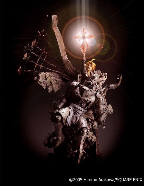 Fullmetal Alchemist Sqaure Enix Sculpture Arts Edward and Alphonse Elric Statue Rinkya