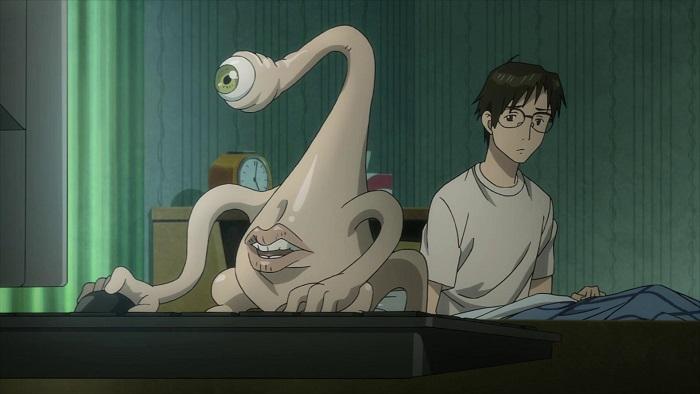 Parasyte the Maxim Migi and Shinichi