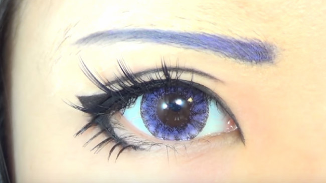 Blue Anime eye makeup