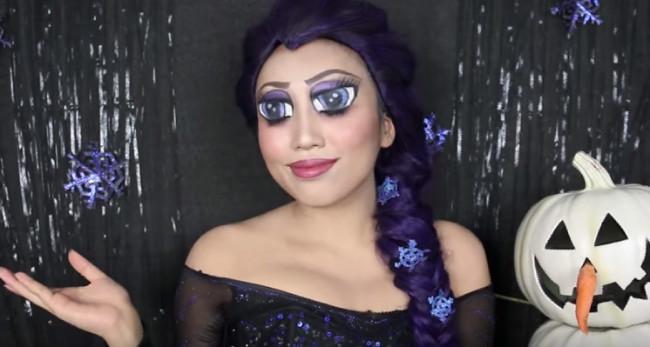 Humorous oversized Anime eye makeup