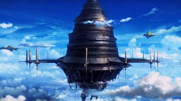 Sword Art Online anime castle