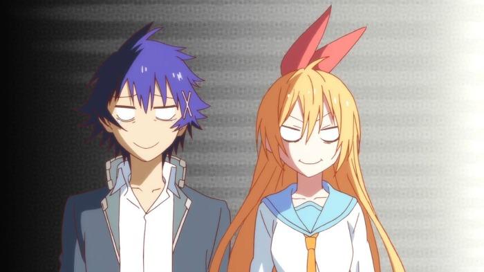 Nisekoi romantic chitoge and ichijou funny faces
