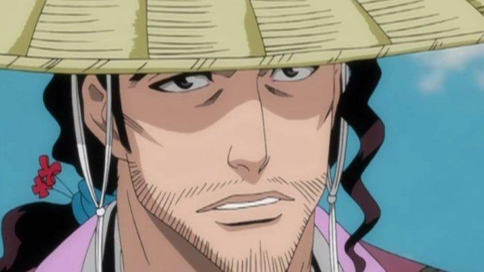 Jirou Kyouraku looking worried