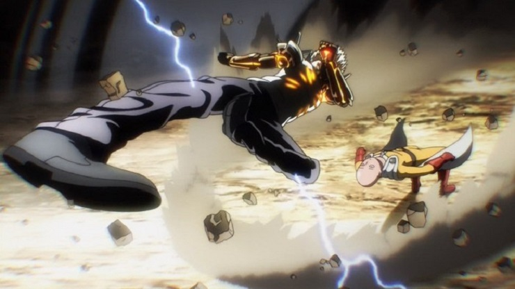 One Punch Man fight animation