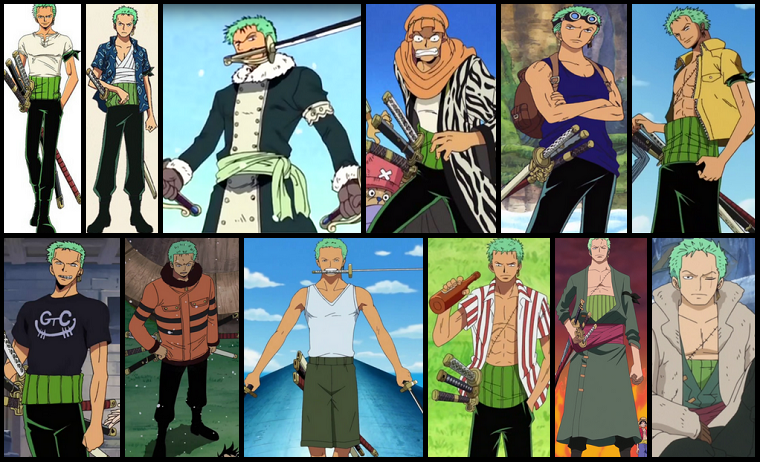 zoro's outfits cropped borders