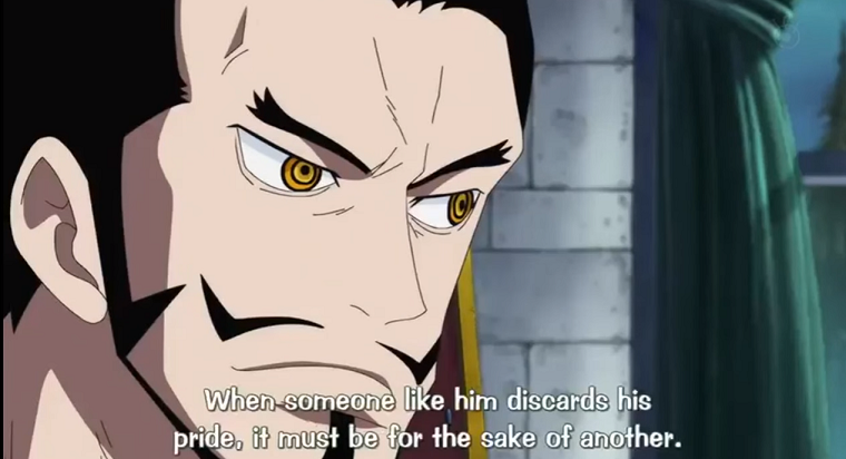 Mihawk's Observation about Zoro's