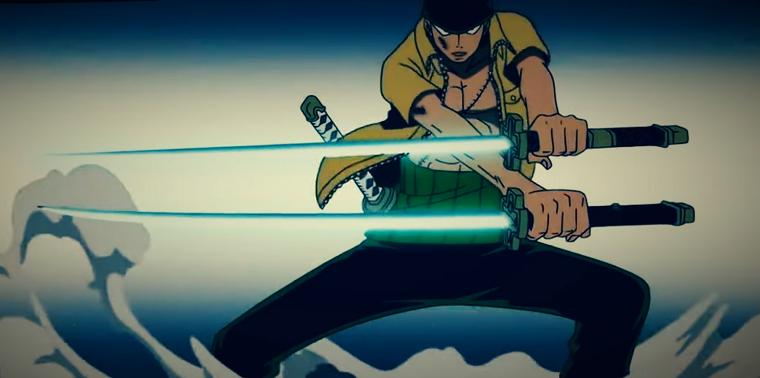 Zoro's ni giri against CP9's Kaku