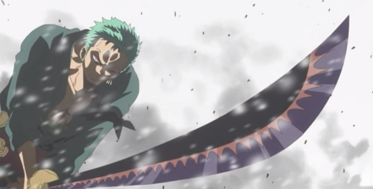 zoro's Ittoryu Daishinkan against Monet on Punk Hazard