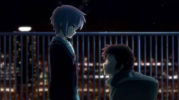Action Romance Anime, Kyon, Yuki Nagato, Suzumiya Haruhi no Shoushitsu, The Disappearance of Haruhi Suzumiya