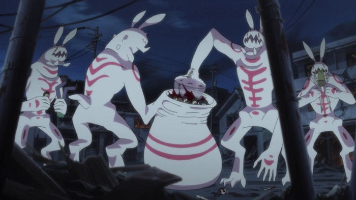 The Bunny Beasts in Blood-C are terrifying anime monsters